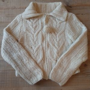 GAP cable knit zip-up sweater.